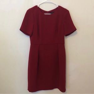 J. Crew Wear to work burgundy dress